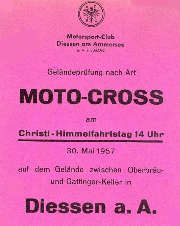 Geländeprüfung nach Art Moto-Cross