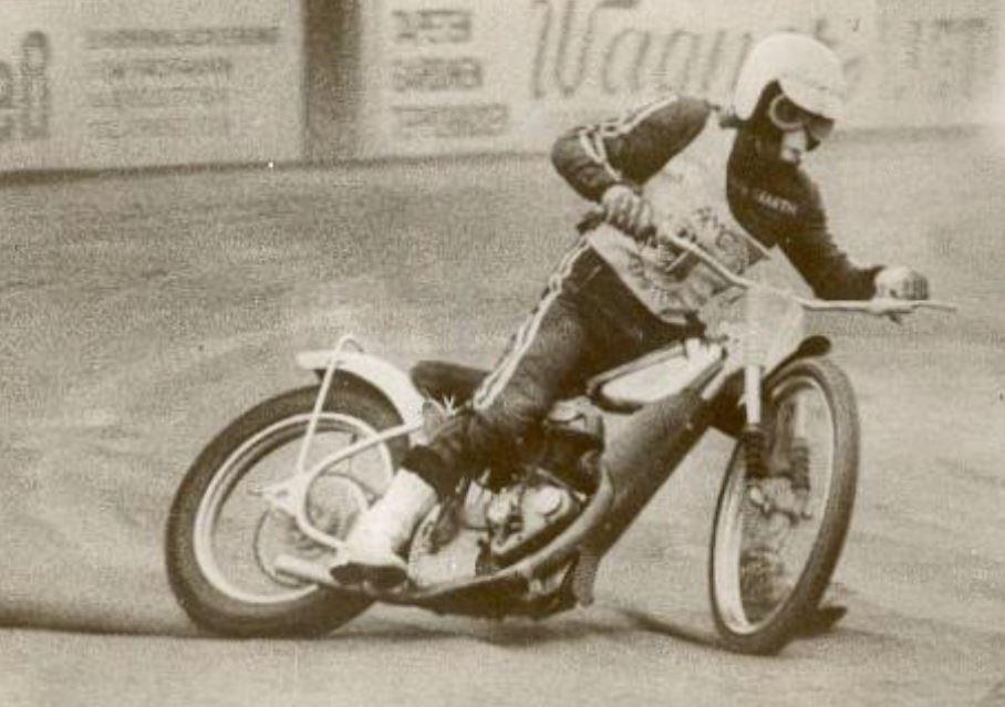 Clubmitglied Otto Barth bei der Speedway Weltmeisterschaft