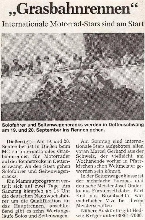 2.-4. Grasbahnrennen 1991-1993